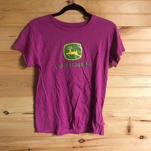 Pink John Deere shirt